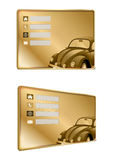 Vintage car business card Royalty Free Stock Images