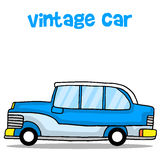Vintage car cartoon education for kids. Vector illustration Royalty Free Stock Photo