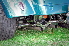 Vintage car chrome axle suspension Stock Photography