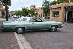 Vintage Car in the City of Santa Fe In New Mexico Royalty Free Stock Image