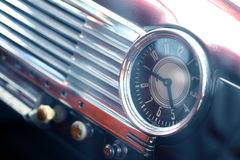 Vintage car clock Royalty Free Stock Photography