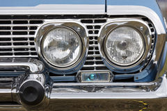 Vintage car, close-up of front detail Stock Image