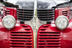 Vintage car, close-up of front detail Royalty Free Stock Image