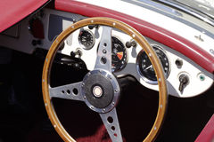 Vintage car cockpit Royalty Free Stock Images