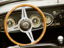Vintage car cockpit Royalty Free Stock Photos