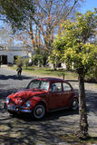 Vintage car in Colonia del Sacramento street, Uruguay Royalty Free Stock Photo