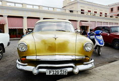 Vintage car in Cuba Stock Photo