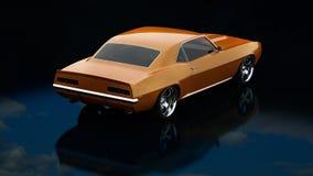 Vintage car. 3D render concept of vintage car, cool design Royalty Free Stock Photos