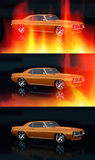 Vintage car. 3D render concept of vintage car, cool design Royalty Free Stock Images