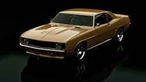 Vintage car. 3D render concept of vintage car, cool design Stock Photography