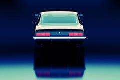 Vintage car. 3D render concept of vintage car, cool design Royalty Free Stock Photography