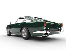 Vintage car - dark green - back side view Royalty Free Stock Image