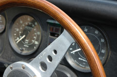 Vintage car dashboard Stock Image