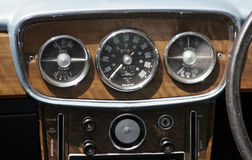 Vintage Car Dashboard Stock Photography