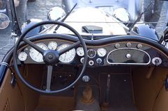 Vintage car dashboard Royalty Free Stock Photo