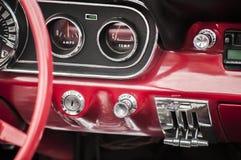 Vintage car dashboard Royalty Free Stock Photo