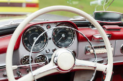 Vintage car dashboard Stock Photos