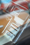 Vintage car dashboard Royalty Free Stock Images