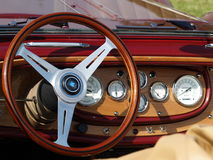 Vintage Car Dashboard Detail Royalty Free Stock Photos