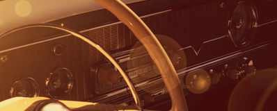 Free Vintage Car Dashboard (fragment) Royalty Free Stock Image - 60453086