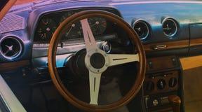 Vintage car dashboard  (fragment) Royalty Free Stock Images