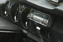 Vintage car dashboard  (fragment) Stock Images
