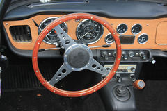 Vintage car dashboard Royalty Free Stock Image