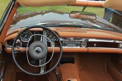 Vintage car dashboard Stock Photography