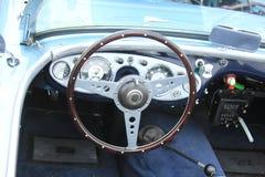 Vintage car dashboard Stock Images