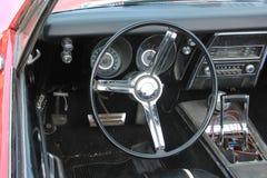 Vintage car dashboard Royalty Free Stock Image