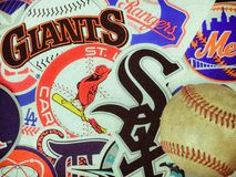 Major League Baseball Stickers Stock Images