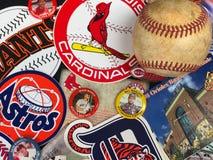 Major League Baseball Stickers. Vintage Car Decals of Major League Baseball teams stock photos
