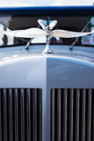 Vintage Car decorated with white ribbon. Detail. Royalty Free Stock Photos