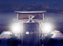 Vintage Car in the Desert Stock Photo