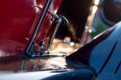 Vintage car detail - bonnet hook Stock Photo