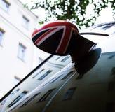 Vintage car detail, concept of British Patriotism shown as flag Stock Photo