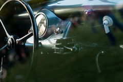 Vintage car detail - dashboard Stock Photo