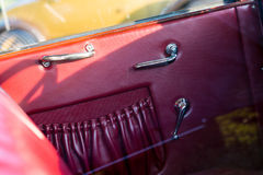 Vintage car detail - door panel Stock Photography
