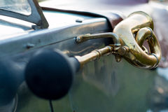 Vintage car detail - horn Royalty Free Stock Photos