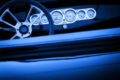 Vintage car detail, monochromatic Royalty Free Stock Photos