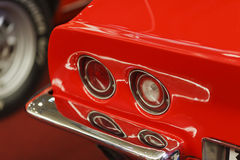 Vintage Car. Detail of retro red sport car Royalty Free Stock Photo