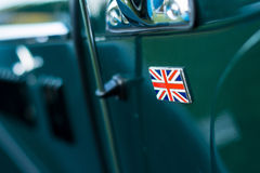 Vintage car detail - union jack badge Royalty Free Stock Photography