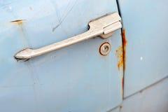 Vintage car door Stock Images