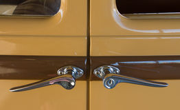 Vintage car door handles Stock Photos