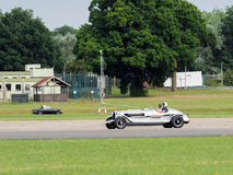 Vintage Car Driving around Dunsfold Airfield Royalty Free Stock Images