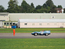 Vintage Car Driving around Dunsfold Airfield Stock Photos