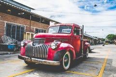 Vintage Car. A dSLR color image a vintage,Talad Rot Fai Market,Bangkok,Thailand Royalty Free Stock Images