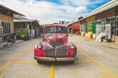 Vintage Car. DSLR color image a vintage car,Talad Rot Fai Market,Bangkok,Thailand Royalty Free Stock Photos