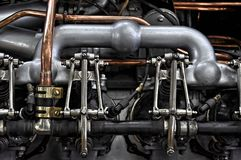 Vintage car engine Royalty Free Stock Images
