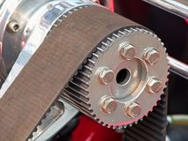 Vintage car engine. Detail of a classic vintage car engine, selective focus royalty free stock photography